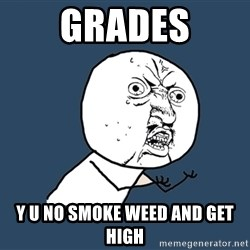 Y U No - grades y u no smoke weed and get high