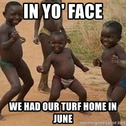 african children dancing - in yo' face we had our turf home in june