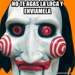 Jigsaw from saw evil - no te agas la loca y enviamela