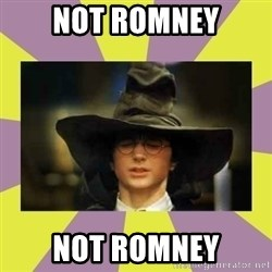 Harry Potter Sorting Hat - not romney not romney