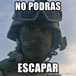 Aghast Soldier Guy - no podras escapar