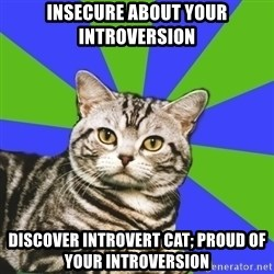 Introvert Cat - insecure about your introversion discover introvert cat; proud of your introversion