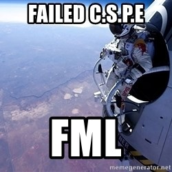 felix baumgartner - failed c.s.p.e fml