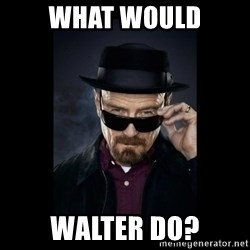 Walter White Hat - What would walter do?