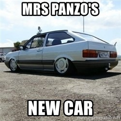treiquilimei - MRS PANZO'S NEW CAR