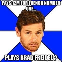 André Villas-Boas - Pays 12m for french number one... plays brad freidel ?