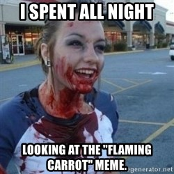 """Scary Nympho - I SPENT ALL NIGHT LOOKING AT THE """"FLAMING CARROT"""" MEME."""