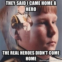 PTSD Clarinet Boy - They said I came home a hero the real heroes didn't come home