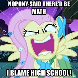 angry-fluttershy - Nopony said there'd be math I blame high school!