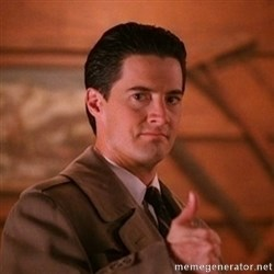 Thumbs-up Agent Dale Cooper  - ­ ­