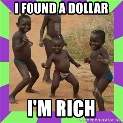 african kids dancing - I FOUND A DOLLAR I'M RICH