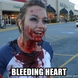 Scary Nympho - bleeding heart