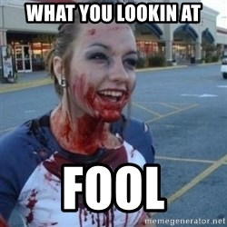 Scary Nympho - WHAT YOU LOOKIN AT FOOL