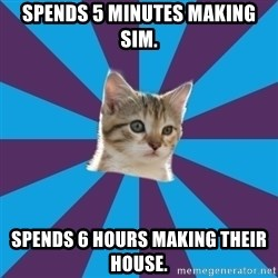 Autistic Kitten - Spends 5 minutes making sim. spends 6 hours making their house.