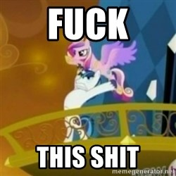 Shining Armor throwing Cadence - fuck this shit