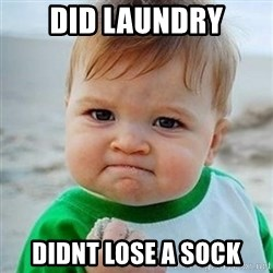 Victory Baby - Did laundry didnt lose a sock