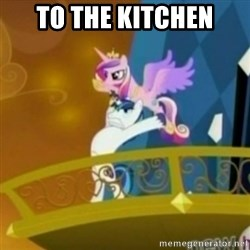 Shining Armor throwing Cadence - TO THE KITCHEN