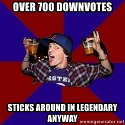 Sunny Student - over 700 downvotes sticks around in legendary anyway