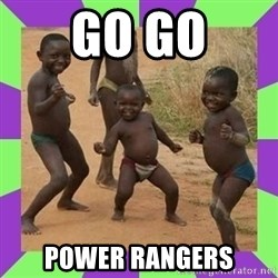 african kids dancing - go go power rangers