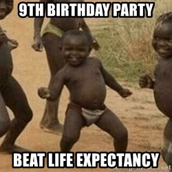 Success African Kid - 9TH BIRTHDAY PARTY BEAT LIFE EXPECTANCY