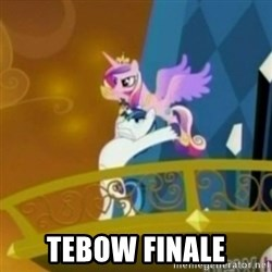Shining Armor throwing Cadence -  TEBOW FINALE
