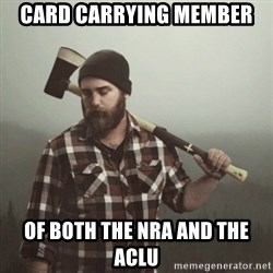 Minnesota Problems - Card carrying member of both the nra and the aclu