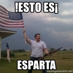 american flag shotgun guy - !esto es¡ esparta