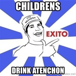 Exito Open English - childrens drink atenchon