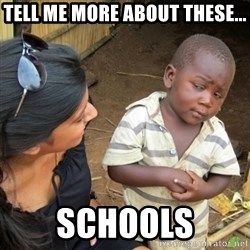 Skeptical 3rd World Kid - Tell me more about these... schools