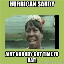 Sugar Brown - Hurrican Sandy AINT NOBODY GOT TIME FO DAT!