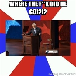 Invisible Obama - WHERE THE F**K DID HE GO!?!?