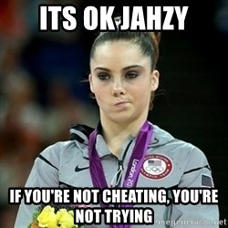 Not Impressed McKayla - Its ok jahzy if you're not cheating, you're not trying
