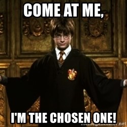 Harry Potter Come At Me Bro - COME AT ME, I'M THE CHOSEN ONE!
