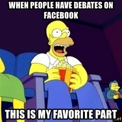Homer Simpson Popcorn - when people have debates on facebook this is my favorite part