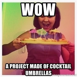 Typical_Ksyusha - WOW A PROJECT MADE OF COCKTAIL UMBRELLAS