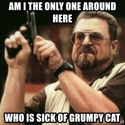 Walter Sobchak with gun - Am I The Only ONe Around HERE Who is sick of Grumpy CAT