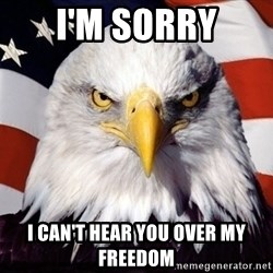 American Pride Eagle - I'm Sorry I can't hear you over my freedom