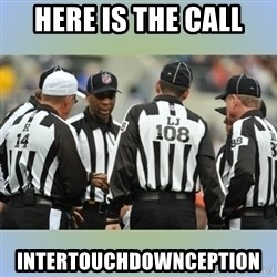 NFL Ref Meeting - Here is the call INTERTOUCHDOWNCEPTION
