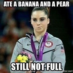 McKayla Maroney Not Impressed - ATE A BANANA AND A PEAR STILL NOT FULL