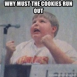 The Fotographing Fat Kid  - Why must the cookies run out