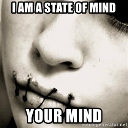 silence - I am a state of mind your mind