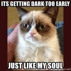 Tard the Grumpy Cat - Its getting dark too early Just like my soul