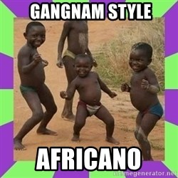 african kids dancing -  GANGNAM STYLE africano