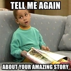 Olivia Cosby Show - Tell me again  About your amazing story