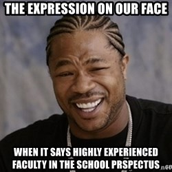 Black Guy Laughing xoxo - the expression on our face when it says highly experienced faculty in the school prspectus