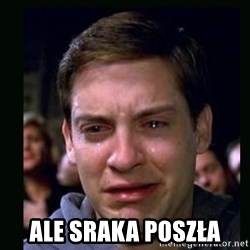 crying peter parker - ALE SRAKA POSZŁA
