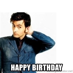 Doctor Who - happy birthday