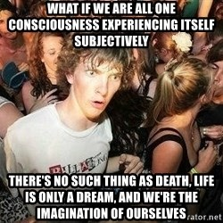 -Sudden Clarity Clarence - WHAT IF we are all one consciousness experiencing itself subjectively THERE'S NO SUCH THING AS DEATH, LIFE IS ONLY A DREAM, AND WE'RE THE IMAGINATION OF OURSELVES