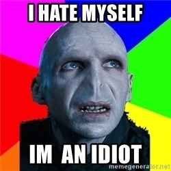 Poor Planning Voldemort - i hate myself im  an idiot