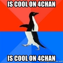 Socially Awesome Awkward Penguin - is cool on 4chan is cool on 4chan
